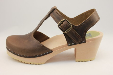 Boston T Strap Sandal<br />Brown Roughman