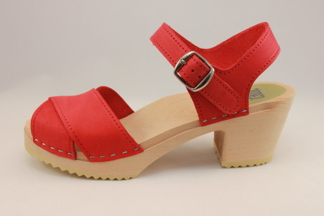 Viola Cross Strap Sandal<br />Red Nubuck
