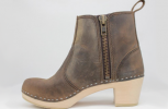 Edith Zipper Boot High HeelBrown Roughman