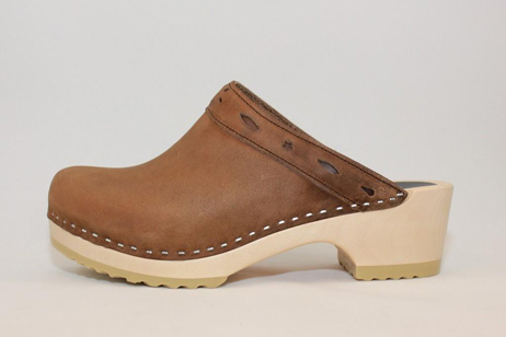 Conway FS Open Back Clog<br />Brown Roughman