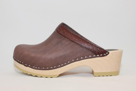 Conway BS Open Back Clog<br />Brown Top Grain