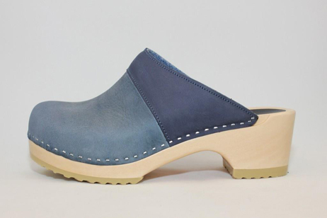 Woodstock WPS Open Back Clog<br />Navy Roughman