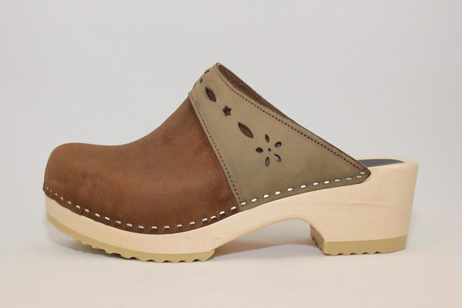 Woodstock WFS Open Back Clog<br />Brown Roughman
