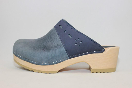 Woodstock WFS Open Back Clog<br />Navy Roughman