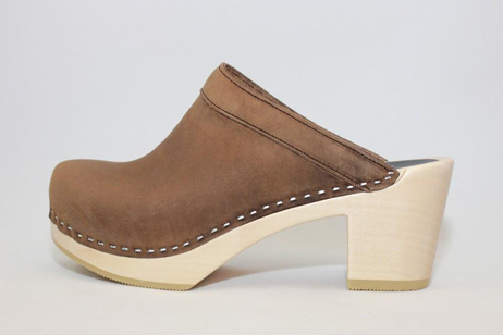 Keene PS Open Back Clog<br />Brown Roughman