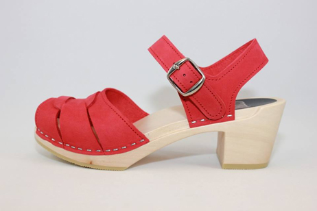 red portsmouth peep toe sandal