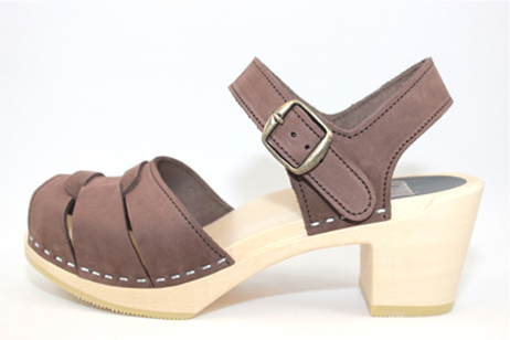 brown portsmouth peep toe sandal