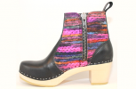 Hippie Yarn Boot High HeelBlack Top Grain