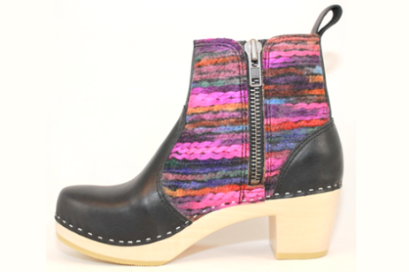 Hippie Yarn Zipper BootBlack Top GrainStyle #151702