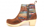 Hippie Yarn Boot High HeelBrown Oil Tan