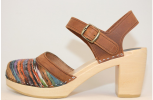 Hippie Yarn PS Super High Heel SandalBrown Oil Tan