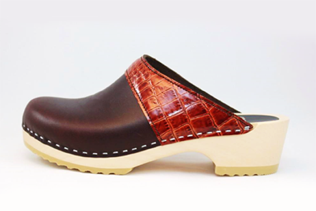 Woodstock WS Open Back Clog<br />Brown Top Grain