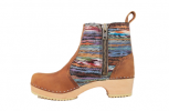 Hippie Yarn Boot Low HeelBrown Oil Tan